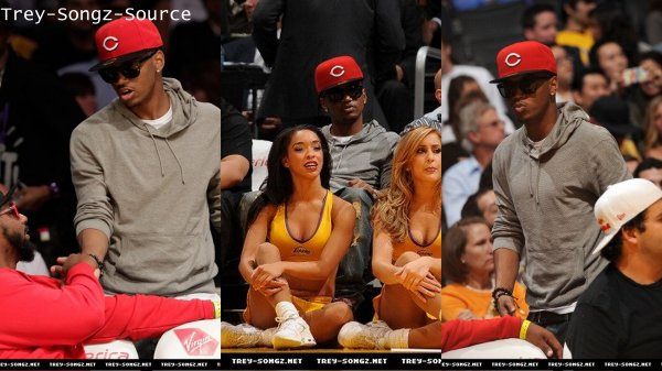 Trey At Los Angeles Laker Game