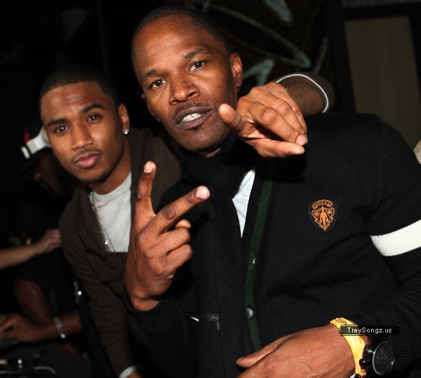 Trey Songz at Jamie Foxx's album release party