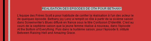 Réalisation Episode Oth on World-wide