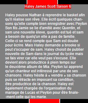 Haley James Scott Saison 4 à 6 on World-Wide