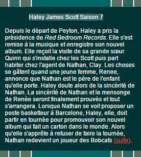 Haley James Scott Saison 7 à 9 on World-Wide
