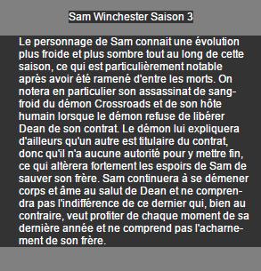 Sam Winchester Saison 1 à 3 on World-wide