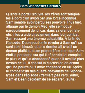Sam Winchester Saison 4 à 6 on World-wide