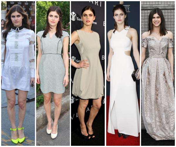 Blanc ou argenté, le choix est difficile attention, Alexandra en a porté des superbes tenues ! Mais lesquelles préférez-vous ?