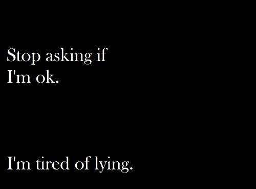 Fatigué de mentir