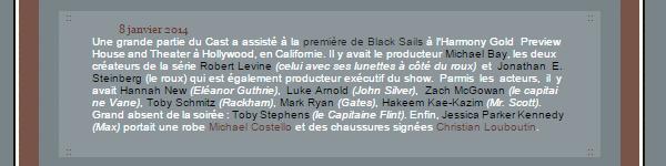 """_________________FlashBack 8.01.2014 // """"Bacl Sails Saison 1"""" Premiere_____________________créa"""
