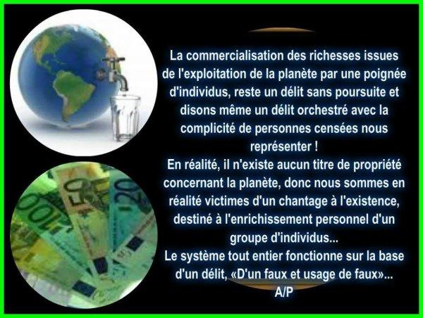 Un autre monde .....  capitalisme destructeur.