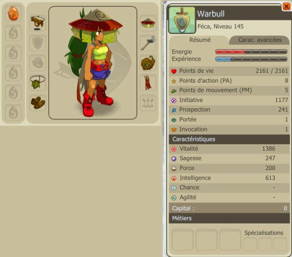 Warbull : Feca lvl 145