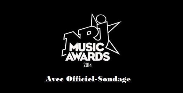"""Officiel Sondage """" Nrj Music Award 2014 """""""