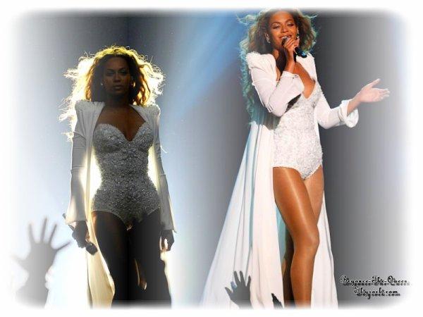 Beyoncé Giselle Knowles (née le 4 septembre 1981),est une artiste R'n'B et pop, et également actrice et mannequin. Née et élevée à Houston au Texas, elle s'inscrit dans différentes écoles d'art scénique et participe à des concours de chant et de danse pendant son enfance. Beyoncé Knowles devient célèbre à la fin des années 1990 en tant que leader du groupe féminin de R'n'B Destiny's Child, l'un des groupes féminins ayant vendu le plus de disques dans le monde. En 2003, pendant la pause de Destiny's Child, Beyoncé sort son premier album solo Dangerously in Love, qui contient les singles populaires Crazy in Love et Baby Boy. Le disque devient l'un des albums à succès de l'année et obtient également le record de cinq Grammy Awards2,3. Après la dissolution du groupe en 2005, Beyoncé sort son second album studio, B'Day, en 2006. Il débute numéro un dans les classements Billboard et inclut les succès Déjà Vu, Irreplaceable et Beautiful Liar. Son troisième album solo I Am... Sasha Fierce, sorti en novembre 2008, inclut l'hymne Single Ladies (Put a Ring on It). L'album et ses singles gagnent six Grammy Awards, battant le record du nombre de Grammy Awards remportés par une artiste féminine dans une seule cérémonie4,5,6. Beyoncé a remporté de nombreuses distinctions. Beyoncé est l'une des artistes les plus honorées par les Grammys Awards et est troisième des artistes féminines7, avec un total de seize récompenses8 dont treize en tant qu'artiste solo et trois en tant que membre des Destiny's Child9. En 2007, elle devient la première artiste féminine à gagner le prix de l'artiste internationale aux American Music Awards. Elle est classée comme la quatrième artiste des années 2000 selon Billboard10et le 11 décembre 2009, le magazine Billboard classe Beyoncé comme l'artiste féminine ayant eu le plus de succès lors de la décennie 2000-2010 et comme l'artiste la plus diffusée en radio lors de cette même décennie11. En février 2010, la RIAA la classe comme l'artiste la plus certifié
