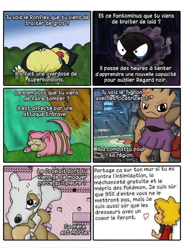 contre la méchanceté envers les pokemon