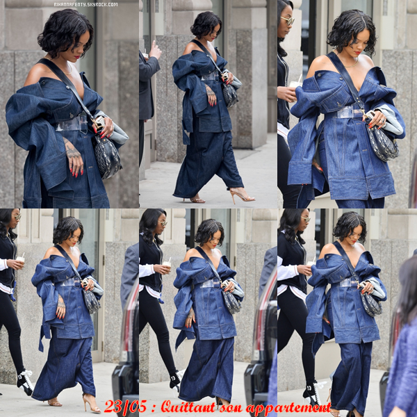 -  23/05/17 : Rihanna quittant son appartement  -