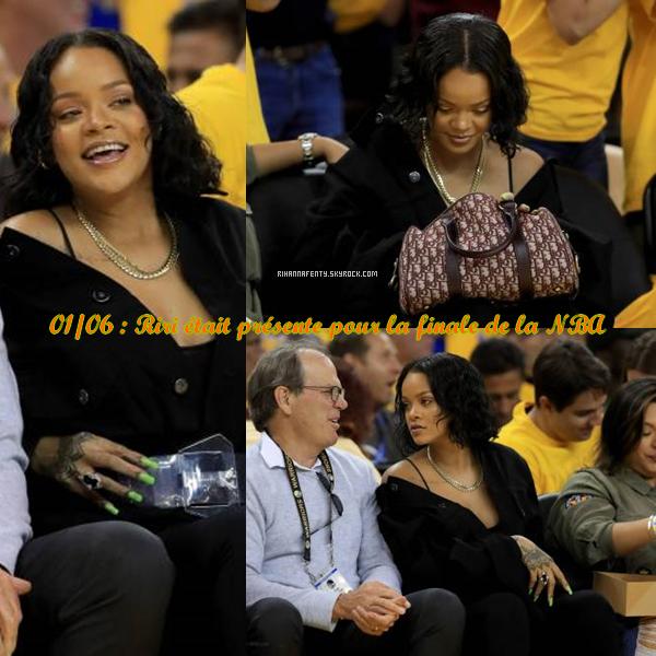 -  01/06/17 : Rihanna assistant à la finale de la NBA -