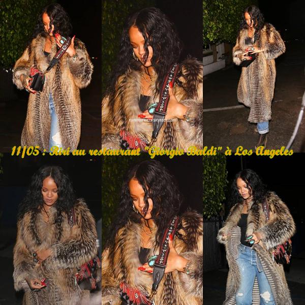"- 11/05/17 : Riri au restaurant ""Giorgio Baldi"" à Los Angeles et Défilé ""Dior Cruise 2018"". -"