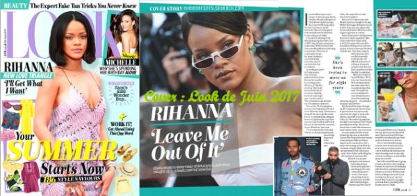 - • Rihanna fait la couverture du magazine « Look » du mois de Juin 2017 ! -