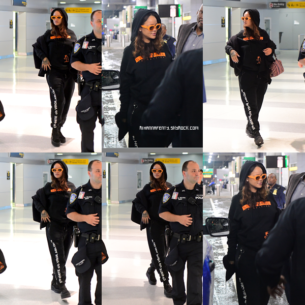 "- 07/09/2017 : Rihanna arrivant à l'aéroport ""JFK"" de New-York Concernant la tenue, la miss portait une tenue sportive mais qui lui va si bien, top. -"