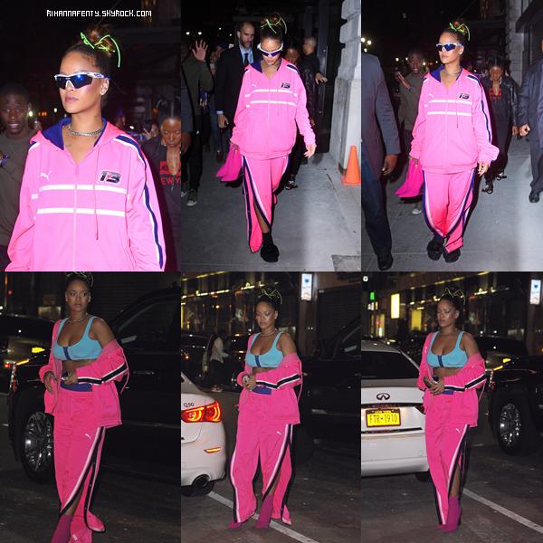 - 11/09/2017 : Rihanna quittant un after à New-York City Rihanna reste belle mais peut faire tellement mieux, bof. -