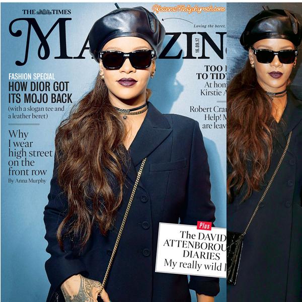 - •COVER Rihanna fait la couverture du magazine « The Times » en Septembre 2017 ! -