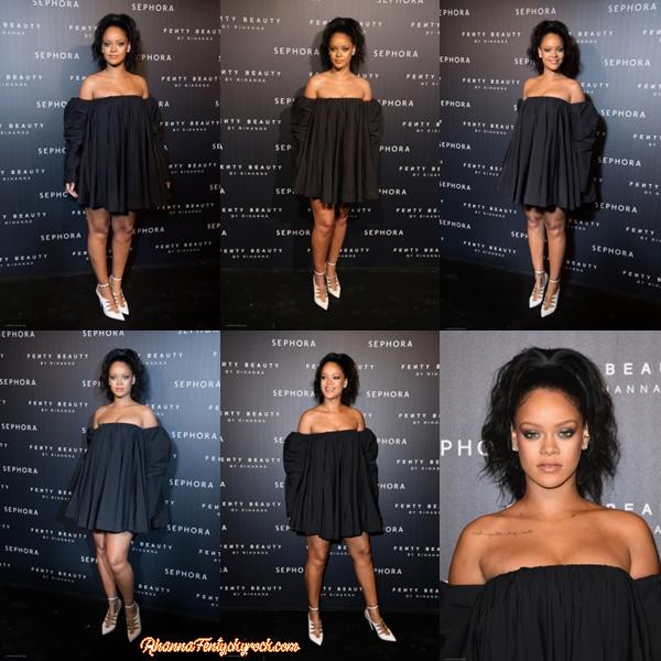 - 21/09/2017 : Rihanna aperçue au lancement de Fenty Beauty à Paris, France Riri est belle mais elle peut faire tellement mieux.. -