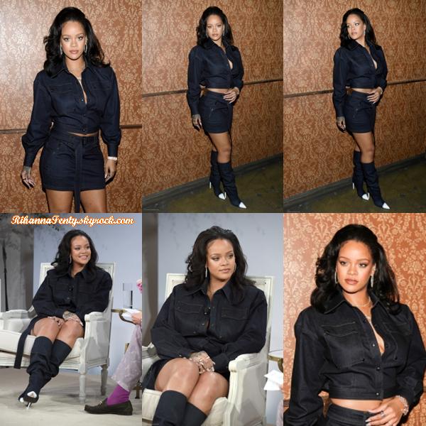 - 12/10/2017 : Rihanna était présente a la conférence Vogue  Forces of Fashion  à New York City. Il s'agit toujours de la même tenue donc l'avis ne change pas. -