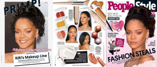 - • Rihanna fait la couverture du magazine « People Style » ! -