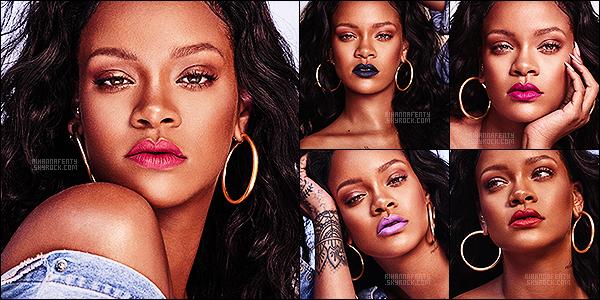 [align=center][c=#EDBA3B][size=8px]-[/size][/c][/align] [align=center][g][font=Georgia][size=16px][c=#bfbfbf]•[/c][/size][/font][/g] [font=Georgia][size=16px]Rihanna pose pour sa marque « Fenty Beauty Mattemoiselle 2017 » ![/size][/font][/align] [align=center][c=#EDBA3B][size=8px]-[/size][/c][/align]