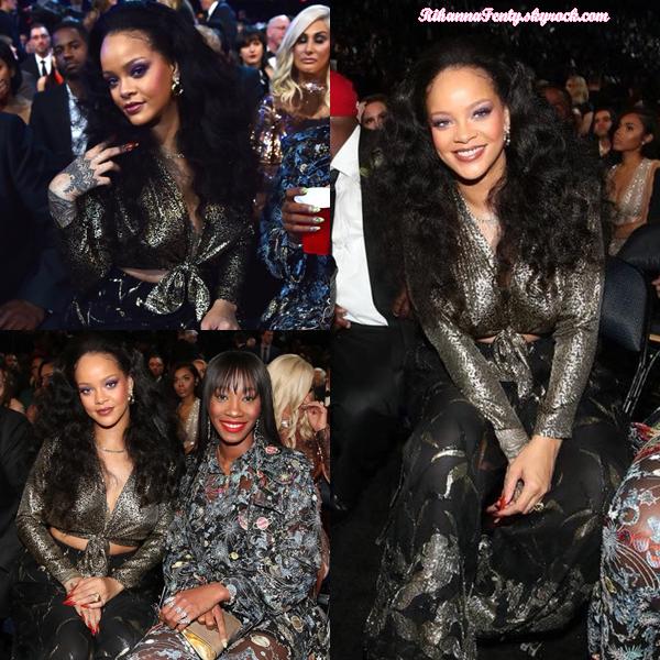 - 28/01/2018 : Rihanna se trouvait dans le public des Grammy Awards de New-York. J'adore la tenue de la miss, elle est juste magnifique ! -