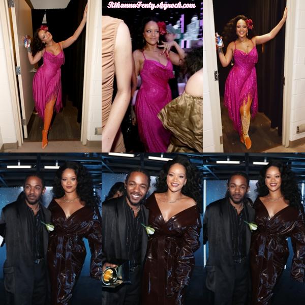 - 28/01/2018 : Rihanna était dans le backstage des Grammy Awards de New-York. Queen Riri est vraiment sexy tout en étant classe, c'est un top sans aucune hésitation ! -