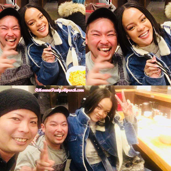 - 08/02/2018 : Rihanna se trouve actuellement à Tokyo au Japon. Les raisons de Riri au Japon sont encore inconnues mais j'aime bien son sourire <3 -