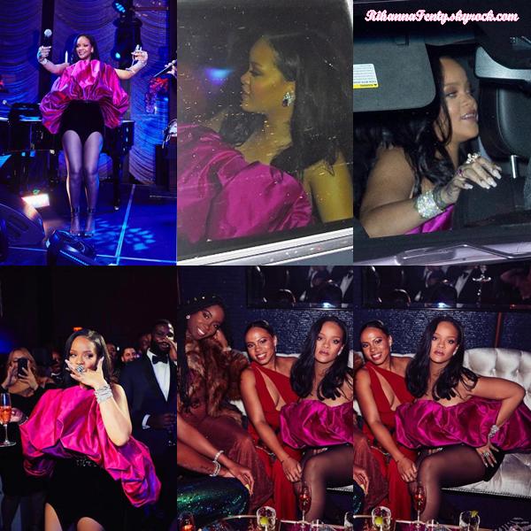 - 20/02/2018 : Rihanna se rendait à son trentième anniversaire à New-York. La queen assistait à cette agréable soirée avec sa famille et des proches, c'est un joli top ! -