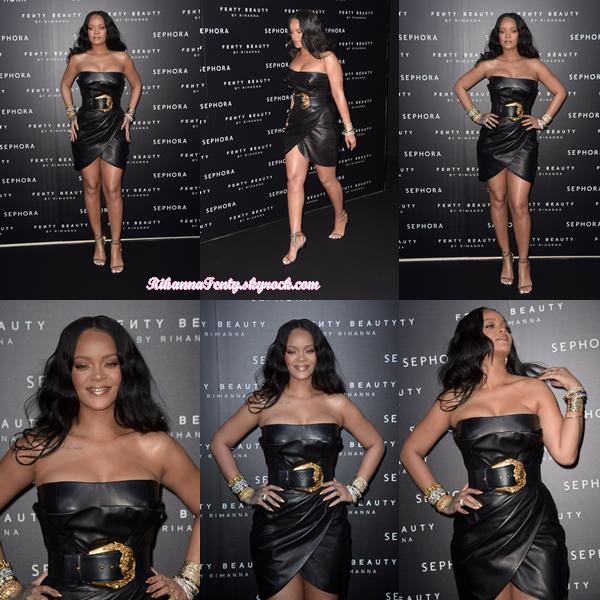- 05/04/2018 : Rihanna était aperçue au lancement de Fenty Beauty au Sephora de Milan. Miss Fenty était juste resplendissante ! Un énorme top pour cette bombe sexuelle. -