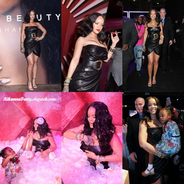 - 05/04/2018 : Rihanna assistait toujours à la soirée de lancement Fenty Beauty dans le magasin Sephora de Milan. Riri était juste adorable avec sa nièce Majesty, canon les miss ! -