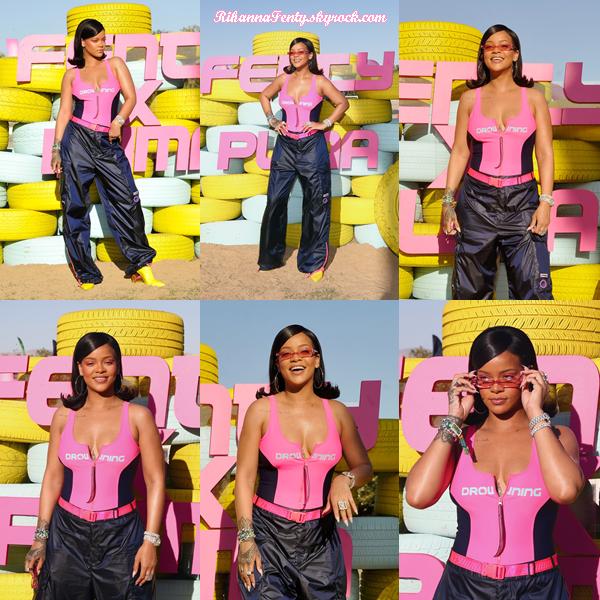 - 14/04/2018 : Rihanna se trouvait au Fenty x Puma à Coachella Party. J'aime beaucoup l'originalité de la tenue, petit top pour ma part  ! -