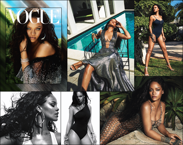 - • DécouvrezRihanna qui pose pour le magazine « Vogue » issue du mois de juin '18! -
