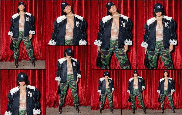 - 05/05/2018 : Rihanna a été vue lorsqu'elle était à l'ouverture du magasin « Gucci Wooster » àNew York. -