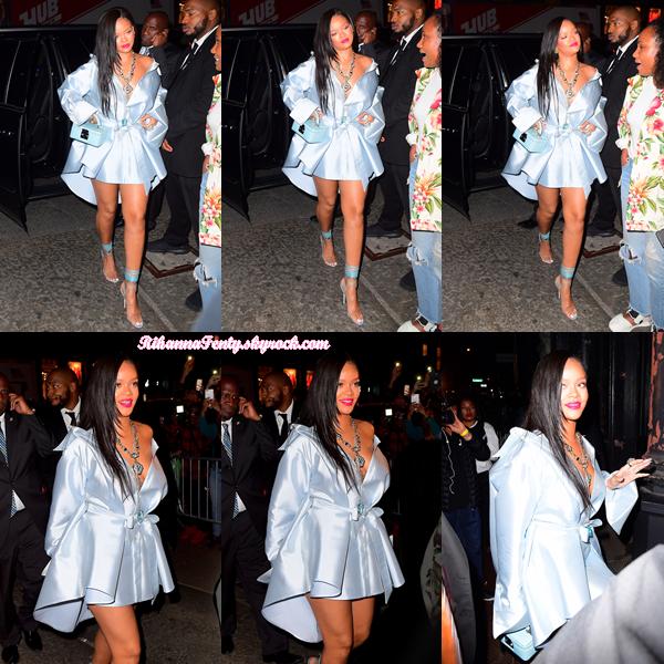- 06/06/2018 : Rihanna aperçue en chemin pour se rendre à Stance à New-York. Une jolie tenue pour une belle soirée, un top ! -