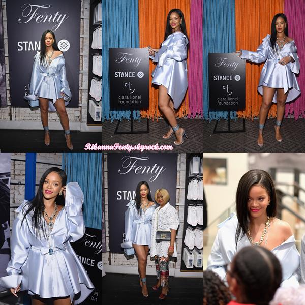 - 06/06/2018 : Rihanna assistait au Stance afin de recueillir des fonds  pour la Fondation Clara Lionel à New-York. La barbadienne était magnifique pour cet événement, c'est un gros top pour la belle ! -