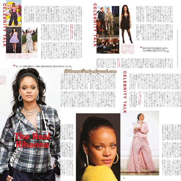 - • DécouvrezRihanna qui pose pour le magazine « Vogue Japon » issue du mois d'août '18! -