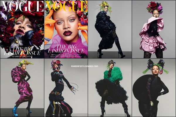 - • Découvrez Rihanna qui pose pour le magazine « Vogue British » issue du mois de sept '18 ! -