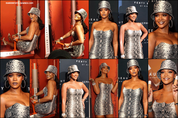 - 03/10/2018 : Rihanna au 1er anniversaire de Fenty Beauty à Sydney en Australie. Rihanna semble enchaîner une belle promotion autour du monde et je suis juste fan de sa tenue, top ! -