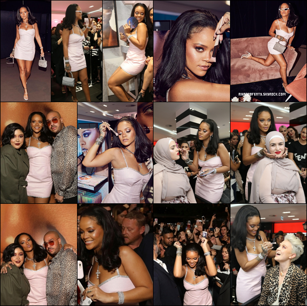 - 03/10/2018 : Rihanna au 1er anniversaire de Fenty Beauty dans le magasin Sephora à Sydney en Australie. Rihanna multiple les sorties et c'est un régal de voir la belle car c'est encore un top bien mérité pour la businesswoman ! -