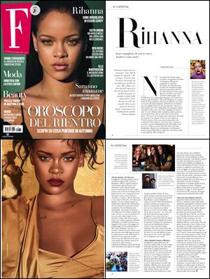 - • Découvrez Rihanna qui pose pour le magazine « F» pour l'édition d'Août 2018! -