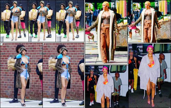 - 10/07/2021 : NotreRihannaa été photographiée lorsqu'elle était sur le tournage d'un clip vidéo, à New York.  -