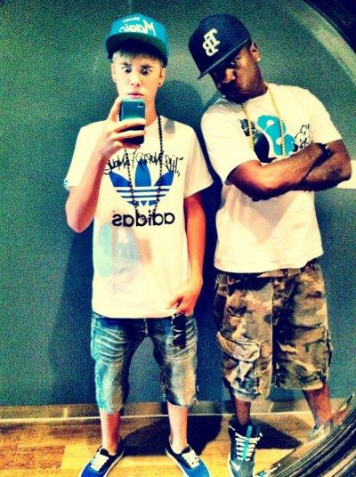 Justin y el rapero Trav