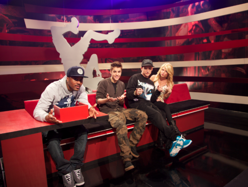Justin en el set de Ridiculousness
