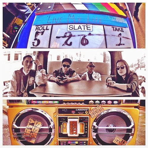 Grabación del videoclip de Live My Life