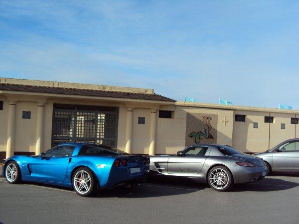 corvette z06 vs sls amg