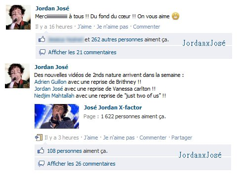 Messages de Jordan sur son Facebook (mercredi 04/05)