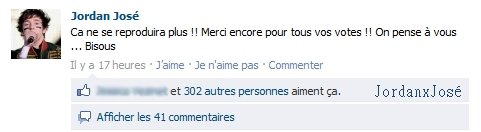 Messages de Jordan sur son Facebook