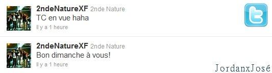 Messages de 2nde Nature sur leur Twitter